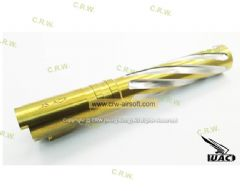 UAC Gold Stainless Steel Spiral Fluted Outer Barrel For TM 5.1 Hi-capa
